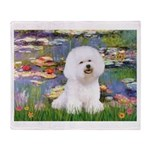 Llies & Bichon Throw Blanket