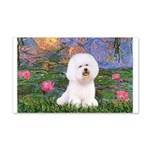 Lilies 4 / Bichon 1 20x12 Wall Decal