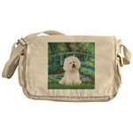 Bridge & Bichon Messenger Bag