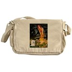 Fairies & Bichon Messenger Bag