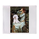 Ophelia & Bichon Throw Blanket