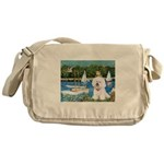 Sailboats (1) Messenger Bag