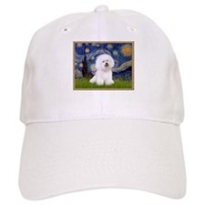 Starry Night Bichon Baseball Cap