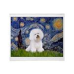 Starry Night Bichon Throw Blanket