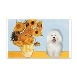 Sunflowers & Bolognese 20x12 Wall Decal