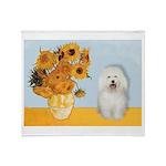 Sunflowers & Bolognese Throw Blanket