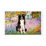 Garden & Border Collie 20x12 Wall Decal