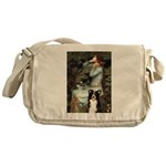 Ophelia & Border Collie Messenger Bag