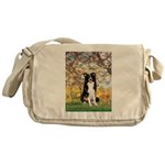 Spring & Border Collie Messenger Bag