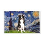 Starry Night Border Collie 20x12 Wall Decal