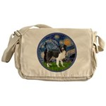Starry / Border Collie (Z) Messenger Bag