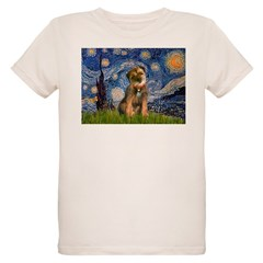 Starry Night / Border Terrier Organic Kids T-Shirt
