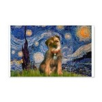 Starry Night / Border Terrier 20x12 Wall Decal