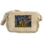 Starry Night / Border Terrier Messenger Bag