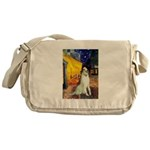 Terrace Cafe & Borzoi Messenger Bag