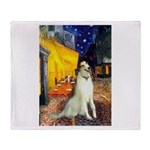Terrace Cafe & Borzoi Throw Blanket