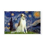 Starry Night & Borzoi 22x14 Wall Peel