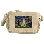 Starry Night & Borzoi Messenger Bag