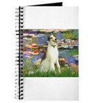 Borzoi in Monet's Lilies Journal