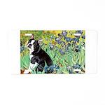 Irises & Boston Ter Aluminum License Plate