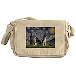 Starry Night & Bos Ter Messenger Bag