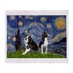 Starry Night & Bos Ter Throw Blanket
