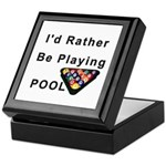 rather play pool Keepsake Box