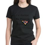 rather play pool Women's Dark T-Shirt