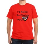 rather play pool Men's Fitted T-Shirt (dark)