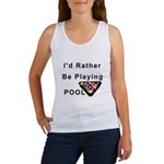 rather play pool Women's Tank Top