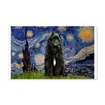 Starry Night Bouvier 20x12 Wall Decal