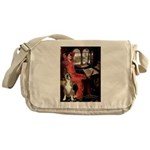 Lady & Boxer Messenger Bag