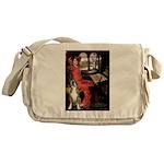 Lady & Boxer Messenger Bag
