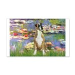 Lilies & Boxer 20x12 Wall Decal