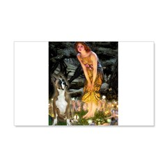 Fairies & Boxer 20x12 Wall Decal