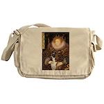 The Queen & her Boxer Messenger Bag