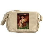 Seated Angel & Boxer Messenger Bag