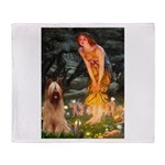 Fairies / Briard Throw Blanket