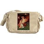 Angel/Brittany Spaniel Messenger Bag