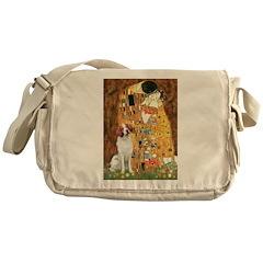 Kiss/Brittany Spaniel Messenger Bag