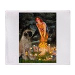 Fairies / Bullmastiff Throw Blanket