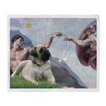 Creation / Bullmastiff Throw Blanket