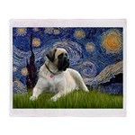 Starry / Bullmastiff Throw Blanket