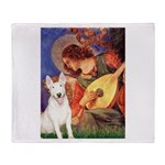 Mandolin Angel / Bull Terrier Throw Blanket