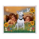 Angels & Bull Terrier #1 Throw Blanket