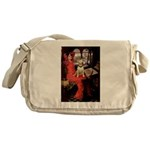 The Lady's Bull Terrier Messenger Bag