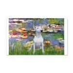Lilies2/Bull Terrier (1) 20x12 Wall Decal