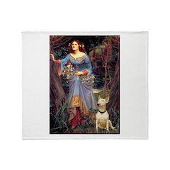 Ophelia / Bull Ter Throw Blanket