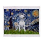 Starry/Bull Terrier (#4) Throw Blanket