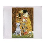 The Kiss & Bull Terrier Throw Blanket